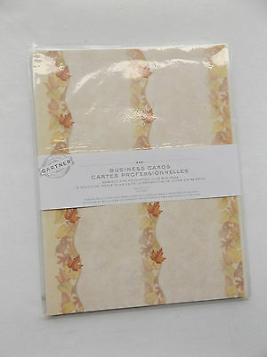 190 Business Cards Gartner Paper Cardstock DIY Craft Cards Tags Autumn Leafs