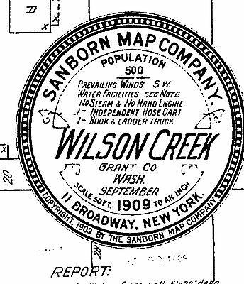 Wilson Creek, Washington~Sanborn Map© sheets with 2 maps made in 1909