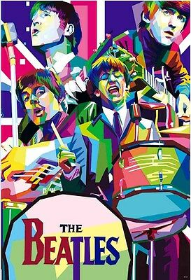 THE BEATLES POSTER 24x36 INCH MUSIC ROCK POP CONCERT NEW 1 SIDE SHEET WALL 55122