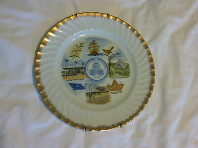 South Carolina Tricentennial Plate 1670-1970 Decorative  Plate with holder