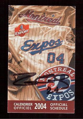 Montreal Expos Ron Calloway Autographed 2004 Official Schedule !!