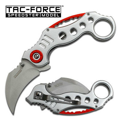 """7.5"""" SILVER TAC FORCE SPRING ASSISTED FOLDING KNIFE Blade pocket open switch"""