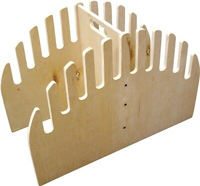 STANDING WOOD SKIMBOARD WATERFALL RACK-10 slots