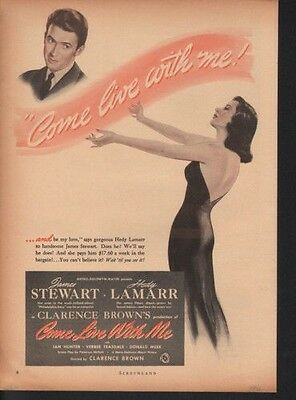 1941 Come Live With Me Stew Lamarr Brown Movie Love 10950