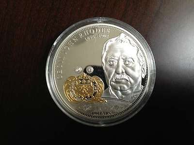 2009 Cook Islands Cecil Rhodes $10 1oz .999 Pure Silver Coin Financial Tycoons