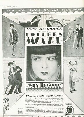 1929 Vitaphone Colleen Moore Deco Flapper Why Be Good 12094