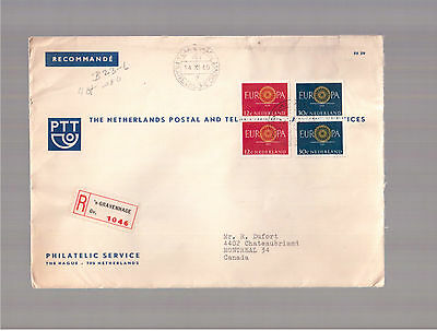 Netherlands 1960 Registered Cover To Canada !!!