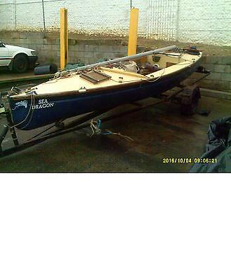 YACHT  DRAGON BOAT 18 Ft Bondwood/fibreglass Yacht NOW REGISTERED TRAILER