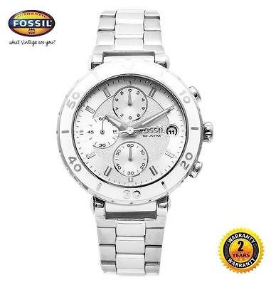 FOSSIL DIVER Stainless Steel Bracelet Women's Watch CH2580 Chrono, Silver dial