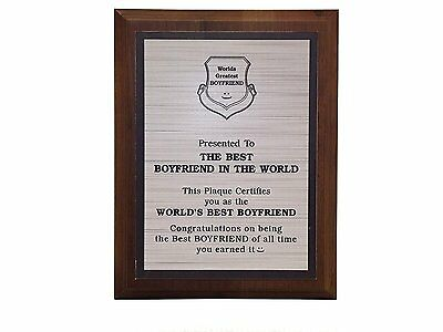 Aahs Engraving Worlds Greatest Plaques (Best Boyfriend In The World)