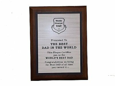 Aahs Engraving Worlds Greatest Plaques (Best Dad In The World)