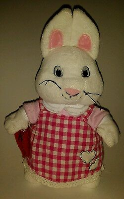 "9 3/4"" Max and Ruby Plush Ruby Bunny Rabbit in Red Valentines Day Costume Doll"