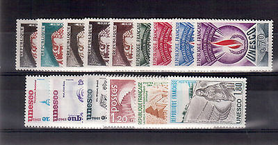 France Unesco 33 Different Stamps Mint F-Vf Never Hinged $36.90 !!