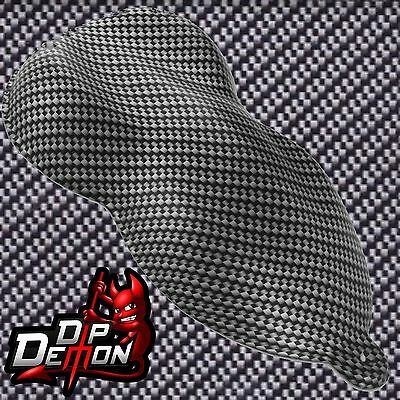 Black & Clear Carbon Fiber Hydrographic Water Transfer Film Hydro Dip Dipping