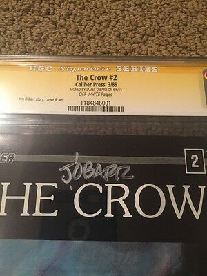the crow 2 signed by james o'barr cgc