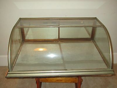 Antique Small Curved Glass Display Case