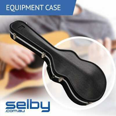 Key Lockable ABS Hard Guitar Case Black for Acoustic or Dreadnought