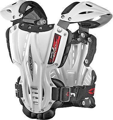 EVS Vex Roost Guard Youth White VEX-W-S Black Small Chest Protector 72-7315
