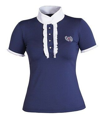 NEU!!!!!! Turnierbluse/Turniershirt Fairplay Charlotte mit Strass Navy blau
