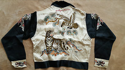 Vintage 1940'S Embroidered  Japan Tour Jacket/ Suka Jun