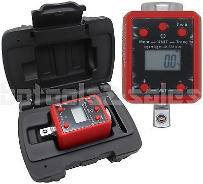 "3/8"" DR. Digital Torque Wrench Adaptor Micro Meter FT/LB IN/LB LED Microtorque"