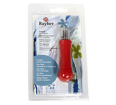 RAYHER Felting Tool with 7-Needles Red Color Germany