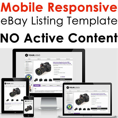 eBay Listing Template HTML Professional Mobile Responsive Design 2018 Auction