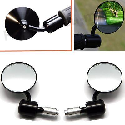 Black Custom Handlebar Bar End Mirrors For Triumph Bonneville Sd Triple Tiger