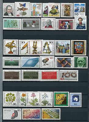 GERMANY 1981 MNH COMPLETE YEAR 36 Stamps