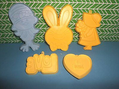 Hallmark EASTER & VALENTINE'S Love Bunny Rabbit Chick Be Mine COOKIE CUTTERS