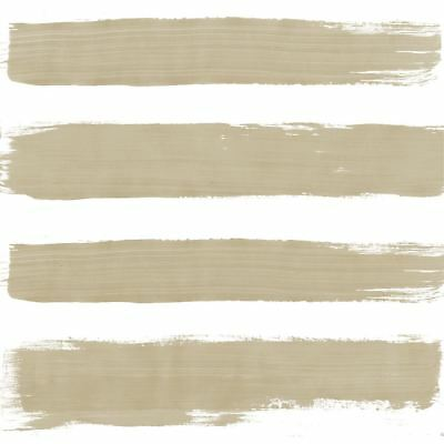 Paint Brush-Style Stripes Taupe 3-Ply 20 Paper Napkins Serviettes 33X33Cm