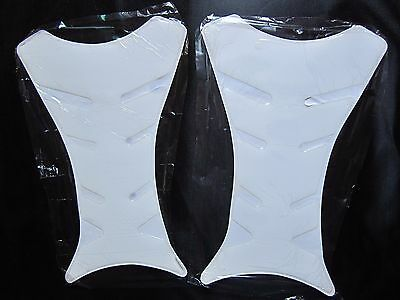 Motorcycle Clear Tank Pad Fuel Tankpads Protector Cover Sticker Decals 2pcs