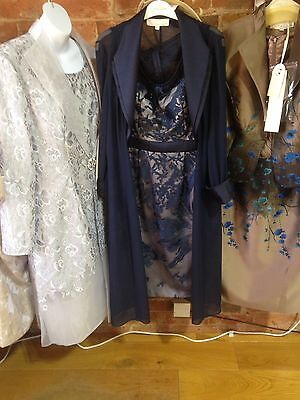 Mother of Bride Groom Wedding Party Formal Occasion Dress Suit Navy 10