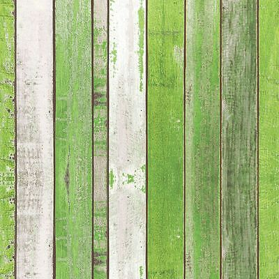 "RUSTIC WOOD-EFFECT GREEN WHITE 3-PLY 20 PAPER NAPKINS SERVIETTES 13""x13""–33X33CM"