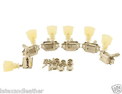 Kluson Vintage Pearl Keystone Locking Tuners 3+3 Fits Gibson Les Paul,335,fly V