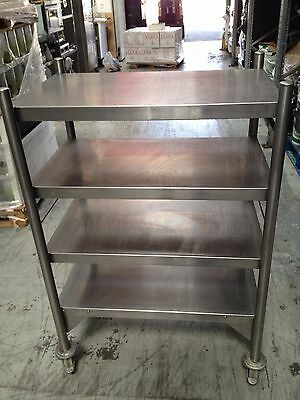 STAINLESS STEEL COMMERCIAL TROLLEY/MOBILE PREP TABLE WITH 4 SHELVES London NW10
