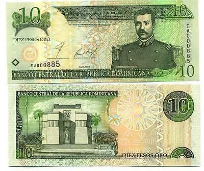 République Dominicaine - Dominican Republic billet neuf de 10 pesos pick 168 UNC