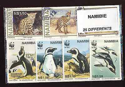 Namibie - Namibia 25 timbres différents