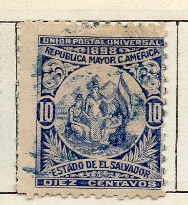 Salvador 1898 Early Issue Fine Used 10c. 126270