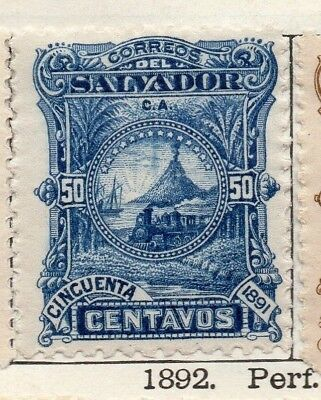 Salvador 1891 Early Issue Fine Mint Hinged 50c. 126295