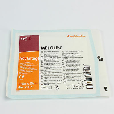 Melolin Low Adherent Absorbent Wound Dressing. 10 x 10cm. Various Quantities.