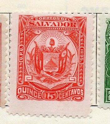 Salvador 1895 Early Issue Fine Mint Hinged 15c. 126348