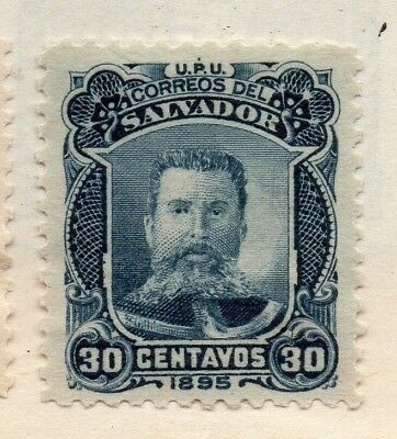 Salvador 1895 Early Issue Fine Mint Hinged 30c. 126356