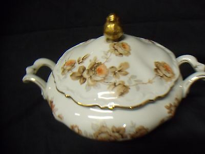 """MITTERTEICH China """" Norway Rose """" Covered Vegetable Tureen."""