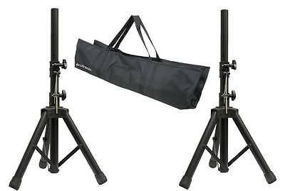 35mm Short Adjustable Aluminium Black PA Speaker Stand Kit 60KG With Carry Bag