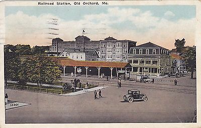 Old Orchard, Maine, Railroad Station,  1929 Old Orchard, ME.  Postal Cancel.
