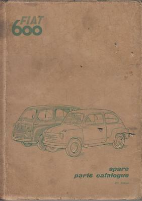 Fiat 600 Saloon & Multipla Original 1956 Factory Parts Catalogue