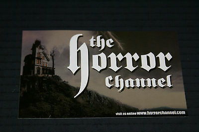 "The Horror Channel Sticker Vintage Mint Rare 4"" X 6"""