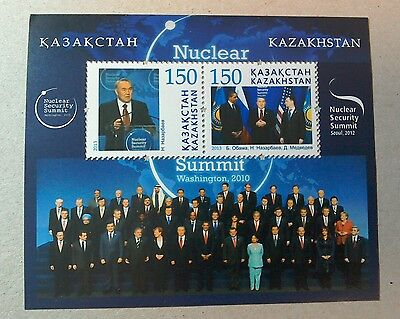 Kazakhstan 2013 Day Against Nuclear Power  M/S per scan MNH