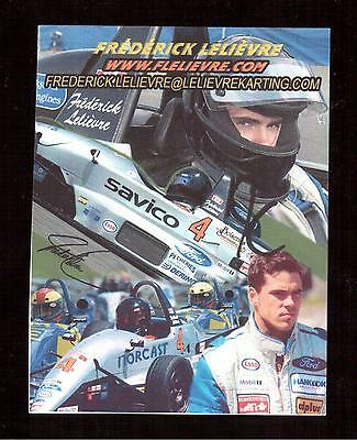 Racing Car Driver Frederick Lelievre Autographed Photocard !!